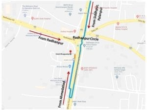 Hotel Bhagyoday mehsana location map
